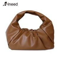 ALNEED Luxury Handbags Women Bag Designer Genuine Leather Top Handle Bag Large Capacity Shoulder Bag Casual Totes Purse Hand Bag