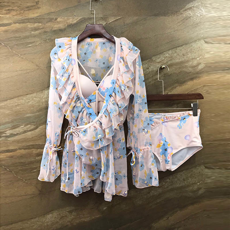 A8 Milan Suit-dress 2020 Small Fresh Printing Swimming Suit Three Paper Suit
