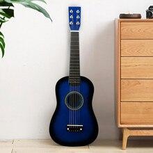 IRIN Mini 23 дюймов липа 12 Лады 6 струнная акустическая гитара с медиатором и струнами для детей/начинающих(синий