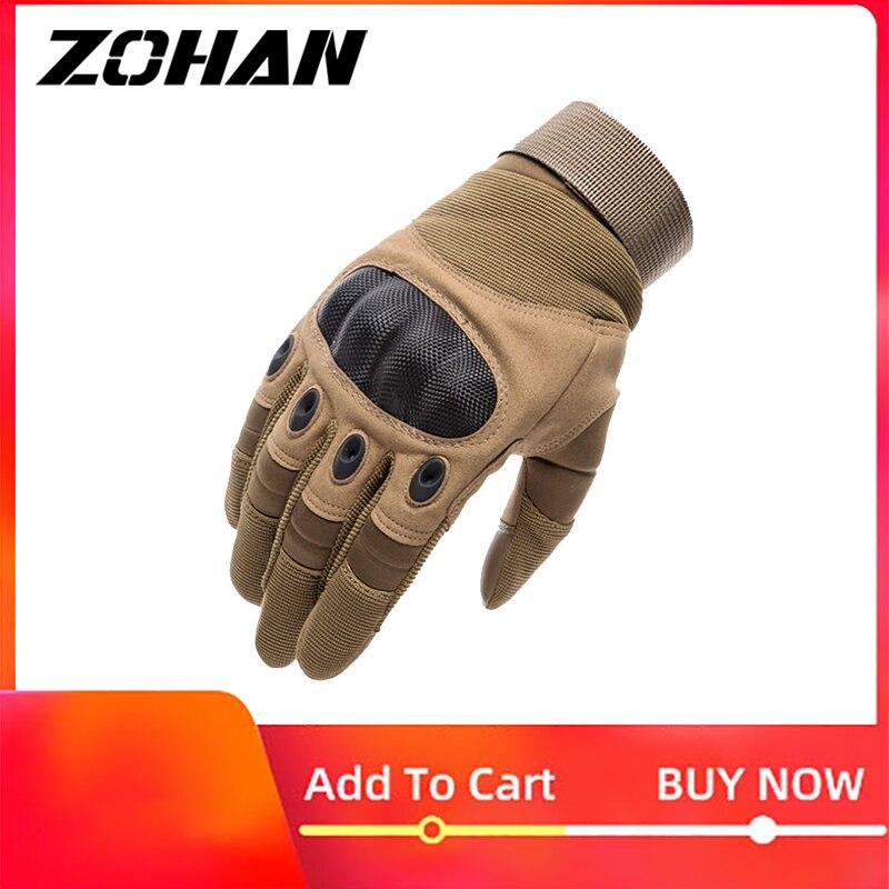 Knuckle tactique hommes gants armée militaire Airsoft dur chasse plein doigt gants en plein air hiver écran tactile tir vélo
