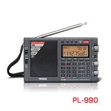 Lusya Tecsun PL-990 przenośne Stereo Radio o wysokiej wydajności pełny zespół cyfrowy strojenia Radio FM AM SW sztab i prętów ze stali nierdzewnej z odbiornik Bluetooth
