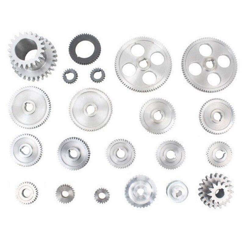 21Pcs Mini Drehmaschine Getriebe/CJ0618 Metall Schneiden Maschine Getriebe/Metall Getriebe Kit (Metrisch)