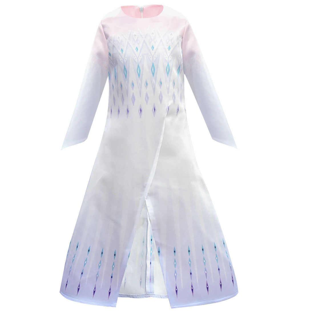 Frozen 2 Elsa Gaun Bayi Gadis Gaun Putri Anna Elsa Cosplay Kostum Lengan Panjang Gadis Putri Gaun Ulang Tahun Gaun Pesta