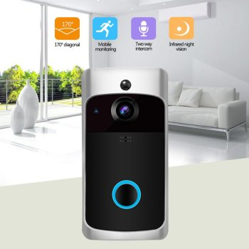 LESHP Video Doorbell Smart Wireless Wifi Security Doorbell Visual Recording Home Monitor Night Vision Intercom Door Phone