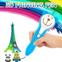 Nieuwe 3d printing pen 5V 1A scribble Potlood 3d tekening pen PCL 1.75-0.02mm Voor Kind Onderwijs hobby gift kid