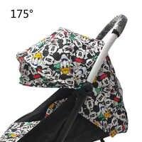 175 grad Kinderwagen Zubehör für Baby Yoya Babyzen Yoyo Sitz Liner Sonnenschutz Abdeckung Haube Baby Zeit Kinderwagen Kissen Pad matratze