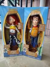 43cm história 3 falando jessie woody figuras de ação modelo brinquedos crianças presente natal boneca colecionável