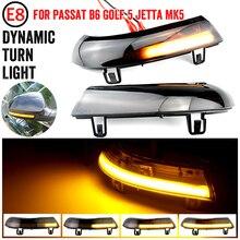 מים בלינק דינמי זורם צד מירור LED הפעל אות אור עבור פולקסווגן פאסאט B5.5 B6 R36 R32 Jetta MK5 גולף 5 GTI שרן מעולה