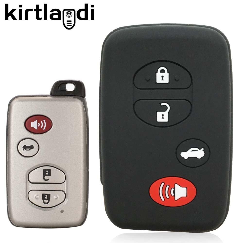 Силиконовый чехол для автомобильного ключа чехол для Toyota Land Cruiser Auris Alpha Prius 30 Aqua 2/3/4 кнопки смарт-пульт дистанционного управления защитный че...