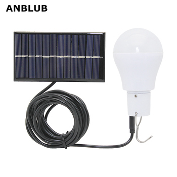 ANBLUB Portable LED Solar Lamp Charged Solar Energy Light Panel Powered Emergency Bulb For Outdoor Garden Camping Tent Fishing