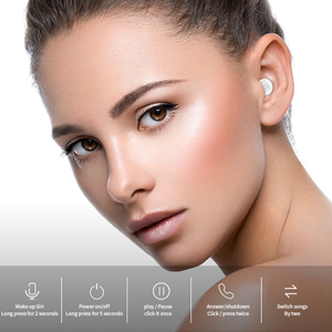 Image 3 - SQRMINI X20 Ultra מיני אלחוטי אוזניות נסתרת קטן Bluetooth אוזניות 3 שעות מוסיקה לשחק כפתור שליטה Earbud עם תשלום Cas