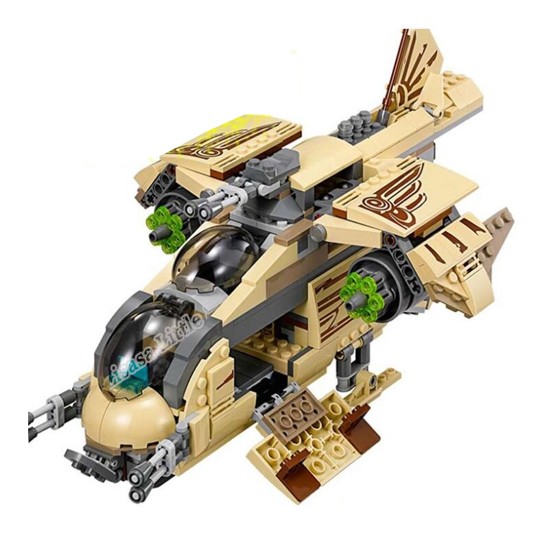 NEW Star Wars Wooker Gunship Compatible with 75084 Block Set Building Brick Legoinglys Starwars Toys For Children