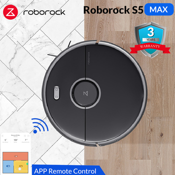 Roborock S5 Max Robot Vacuum Cleaner Super Powerful Suction Smart Sweeping Cleaning Electric Mop Home Cleaning Robotic Collector
