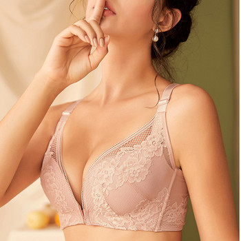 Xianqifen front closure lace plus size push up beauty back top bh bras for women sexy lingerie intimates underwear wireless BCD 5
