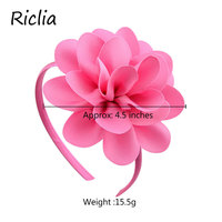 Riclia 20pcs/lot Child Hair Accessories Floral Headwear Solid Beauty Headhair For Girls Cute Princess Decoration 20 Colors