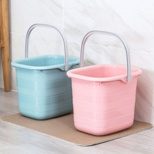 11L Plastic Mop Bucket Bathroom Laundry Buckets Portable Water Container Fishing Car Wash Bucket Large Pail Camping Kitchen