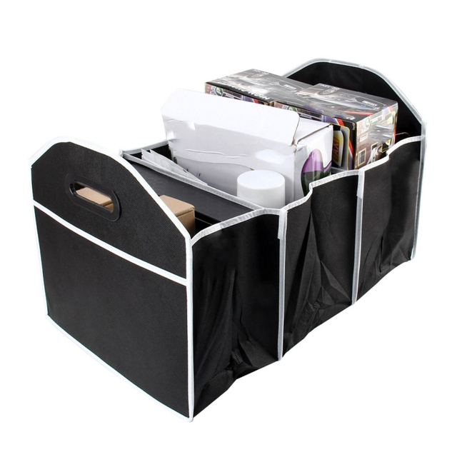 Car Multi Pocket Trunk Organizer Large Capacity Folding Storage Bag Trunk Stowing and Tidying Trunk Organizer Car Accessories