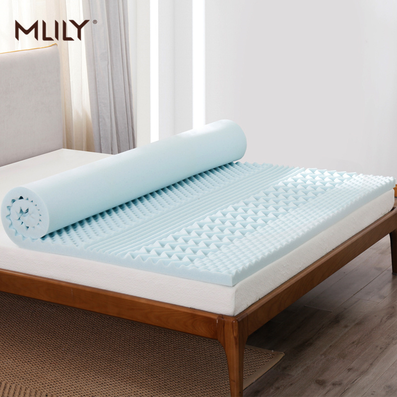 Mlily Memory Foam Mattress Toppper Cooling Gel Slow Rebound Mattress King Queen Full Twin Size Bedroom Furniture|Mattresses| |  - title=