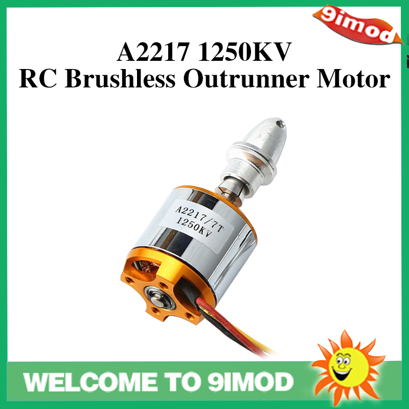 New A2217 <font><b>2217</b></font> 1250KV Motor Mount Outrunner Brushless Motor for RC Fixed Wing Airplane Multi-copter image