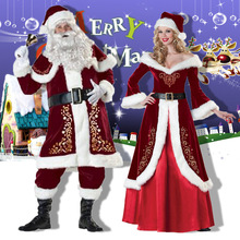 Christmas Costumes Santa Claus For Adults Red Women Men Christmas Clothes Santa Claus Costume plus size christmas kind santa claus sweatshirt