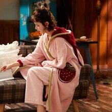 Новинка женская теплая Пижама толстая флисовая осенне зимняя