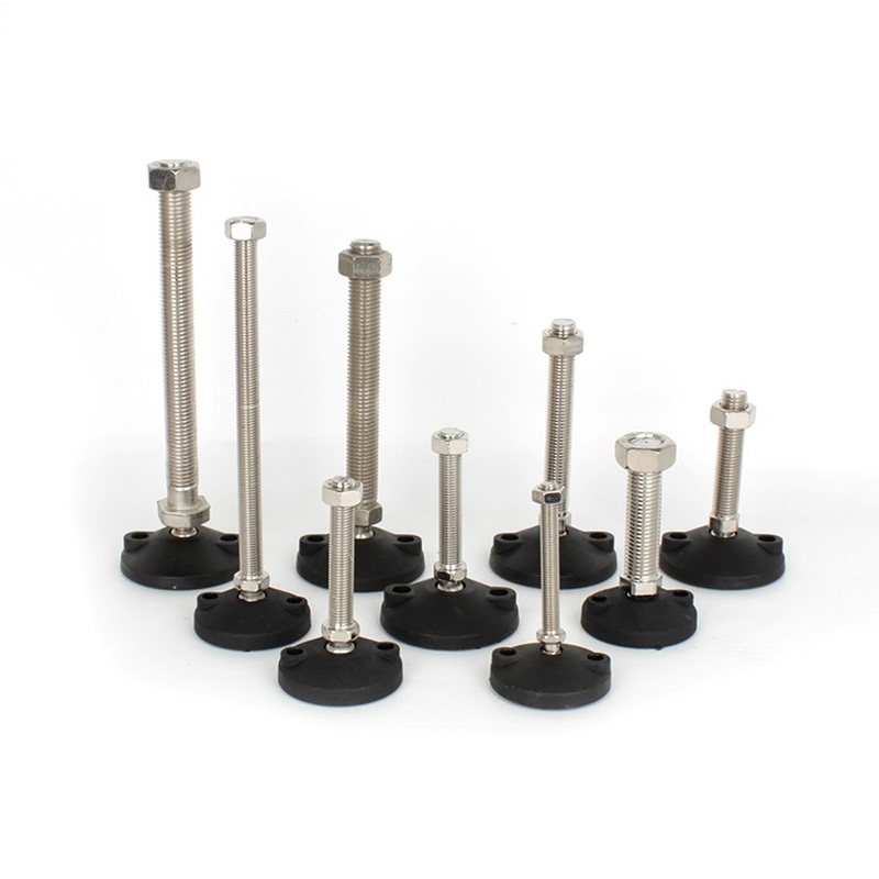 Furniture Support Leg Non-skid Pad Directional M8/M10/M12/M16 Adjusting Foot Nylon Universal Hooves Fixed Anchor Cup