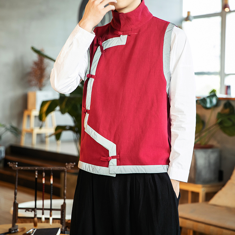 M-5XL China Traditional Clothing Chinese Fashion Plus Size Tang Vest Women and Men Winter Autumn Waistcoat Vintage Blouse 4XL image