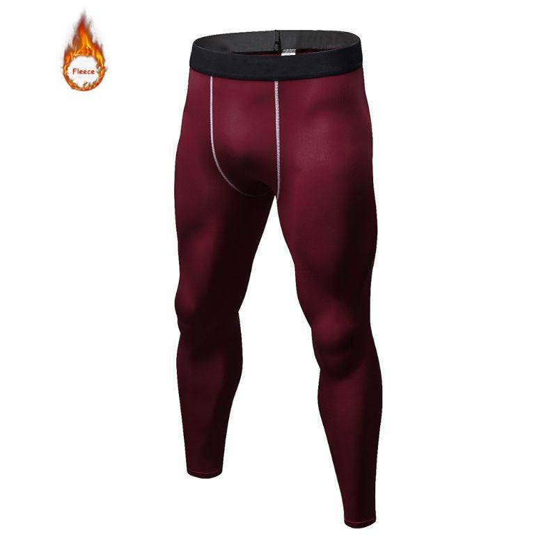 Men Winter Thermal Fleece Underwear Sports Cycling Base Layers Fitness Gym Jogging Pants Winter Warm Long Leggings