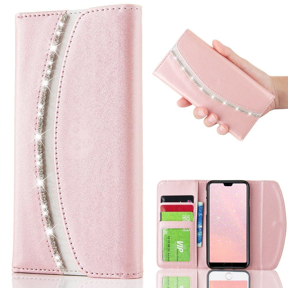 L-FADNUT Luxe Flip Wallet Case Voor Huawei P30 Pro P20 Lite P10 P9 Lite 2016 P Smart 2019 Telefoon Tas PU Lederen Cover Capa Coque