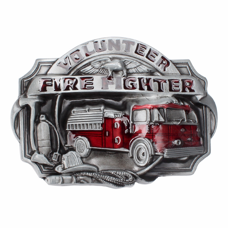 Belt DIY Components Fireman  Fighter Buckle Homemade Handmade Belt Accessories Fire Truck Waistband Buckle