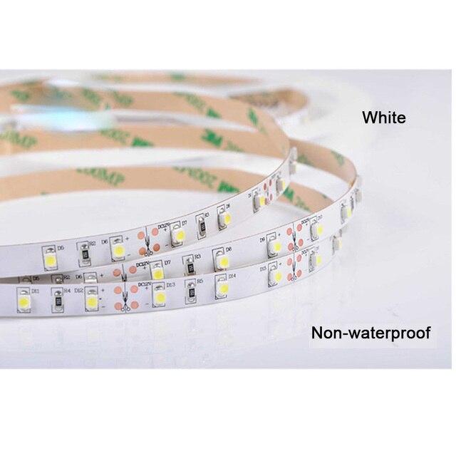 5m 3528 SMD 120 LEDs/M Warm White Yellowish Flexible LED Light DC24V non-waterproof LED Strip
