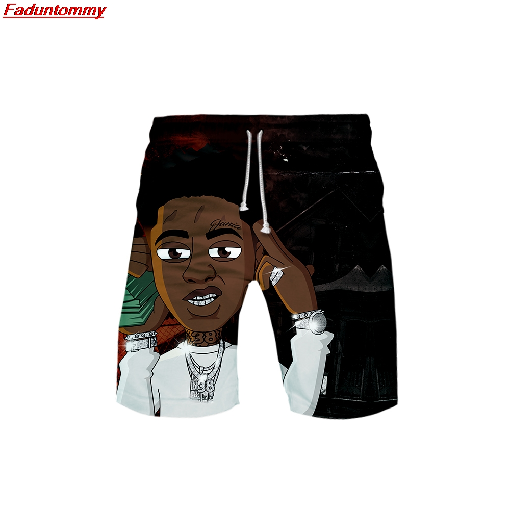 YoungBoy Never Broke Again  3D Style Summer Men Fashion Leisure Trend Shorts 2019 New Kpop Popular  Casual Summer Shorts