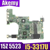 AKEMY 0NJF5X NJF5X For DELL Inspiron 15z 5523 laptop motherboard 11307-1 i5-3337U GT630M 2GB tested