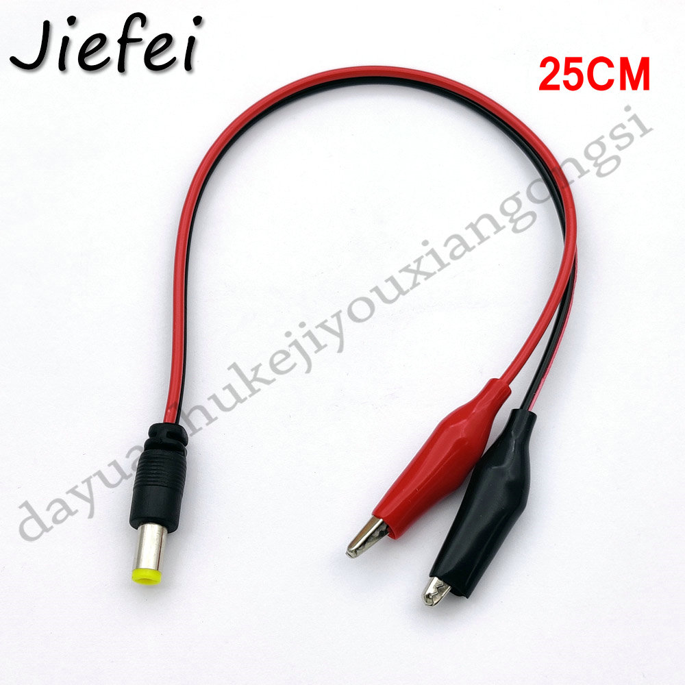 5.5X2.1mm DC Male Jack Connector Alligator Clips Crocodile Wire <font><b>12V</b></font> Power Cable To 2 Alligator Clip Connected Voltage 5.5*<font><b>2.1mm</b></font> image