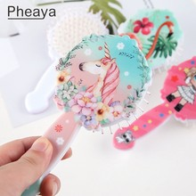 Pheaya Princess Print Hair Brush Anti-static Haircare the Scalp Reduce Hairloss Airbag Massage Comb Styling Tool Accessories