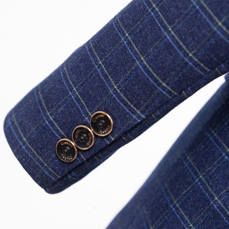 Гладкие лезвия Мужчины носить бронежилет и Тонкий Блейзер Куртка для двух швейцаров мужчин весной - 5