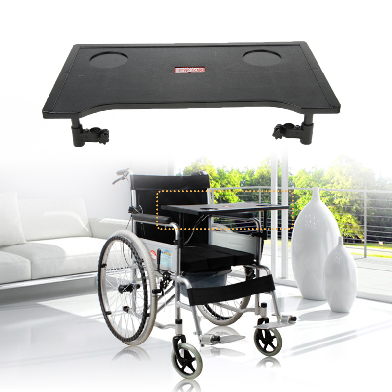 Wheelchair Lap Tray Table Accessories With Cup Holder - Portable Child Chair Trays Desk Universal Fit For All Wheelchairs