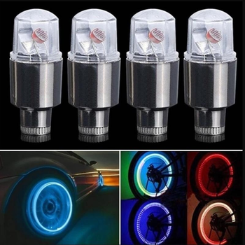 2PCS Car Bicycle Motocycle LED Lights Wheel Tire Valve Caps Cycling Lantern Spokes Hub Tyre Lamp MTB Bike Accessories image