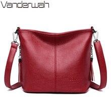 女性の女性のためのクロスボディバッグ2020高級財布とハンドバッグの女性の革タッセルショルダーバッグデザイナーバケットバッグ嚢