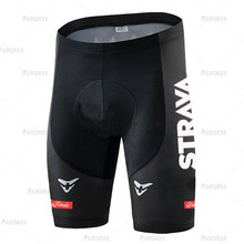 STRAVA Unisex Cycling Shorts 2021 Pro Bike Team Summer Cycling Short Tights Bicycle MTB Road Bike Trousers Breathable 5D Gel Pad