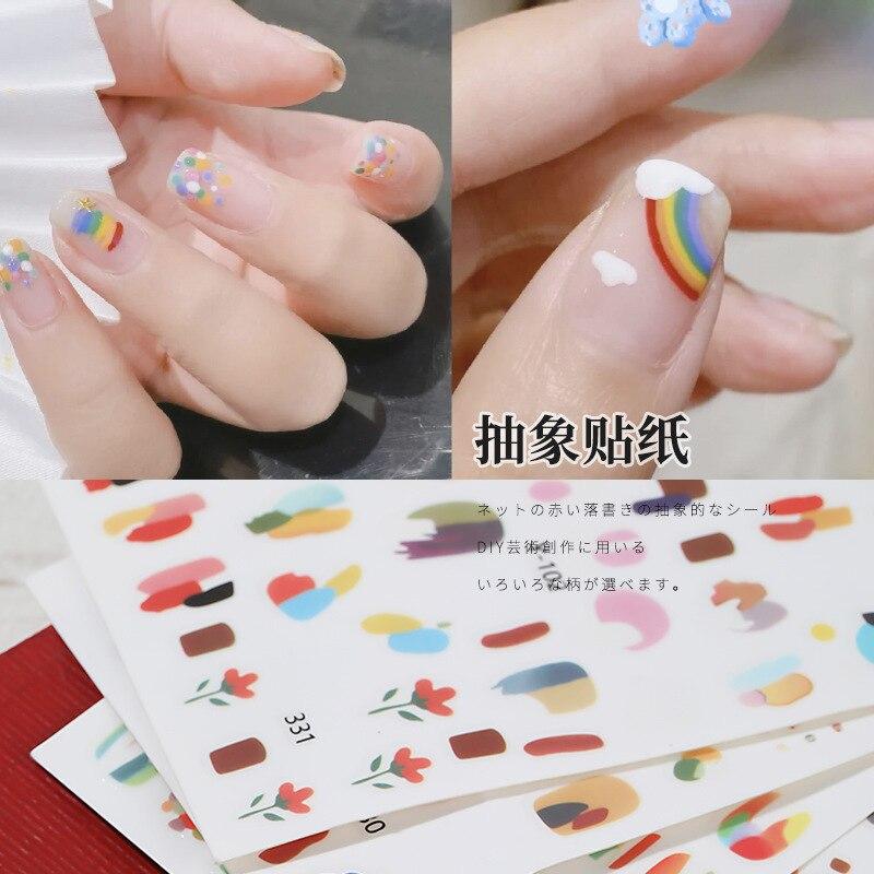 1 шт наклейки для ногтей в абстрактном стиле граффити разные