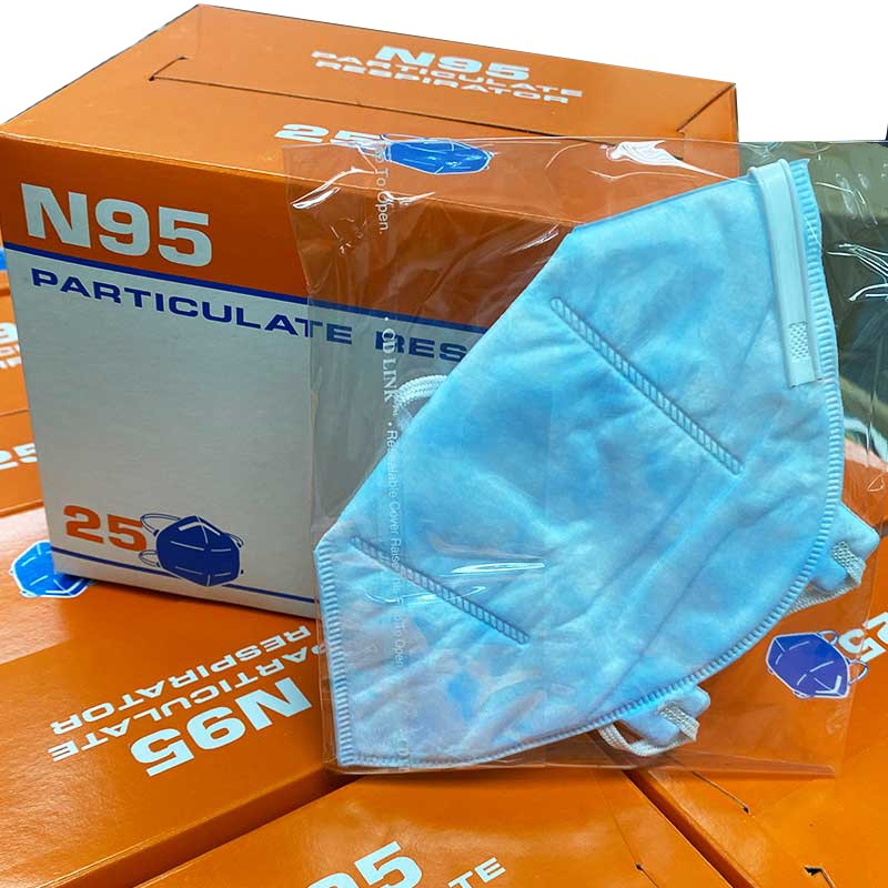 1PC N95 Disposable Respirator Antiviral Mask Universal For Anti Pollution, Bacteria And Viruses