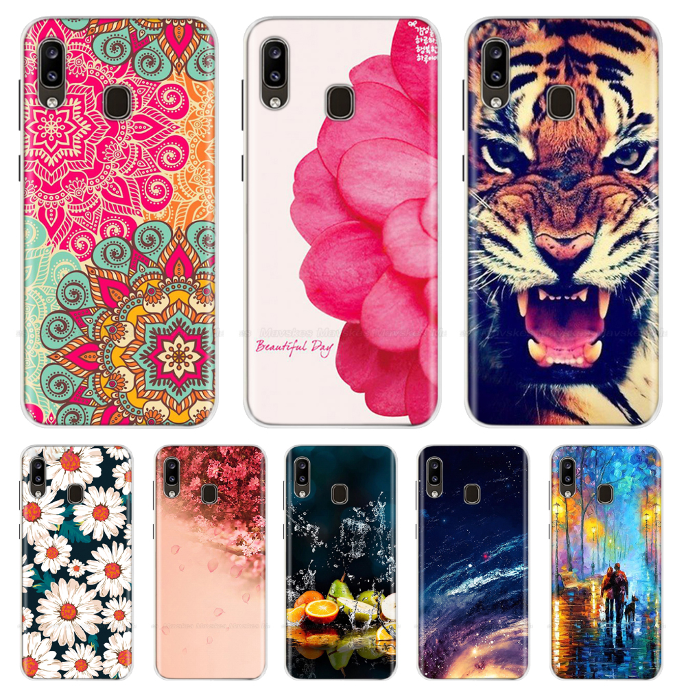 For <font><b>Samsung</b></font> <font><b>Galaxy</b></font> <font><b>A40</b></font> A30 A20 <font><b>Case</b></font> Cartoon Soft Silicone Cover Print TPU <font><b>Phone</b></font> <font><b>Case</b></font> For <font><b>Samsung</b></font> A 40 30 20 Cover Fundas Bumper image