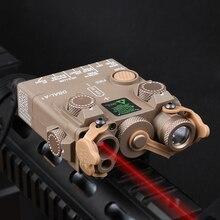 WADSN Airsoft DBAL A2 kırmızı nokta IR lazer Sight amaçlayan LED beyaz çakarlı lamba Softair taktik PEQ lazer avcılık silah Scoutlight