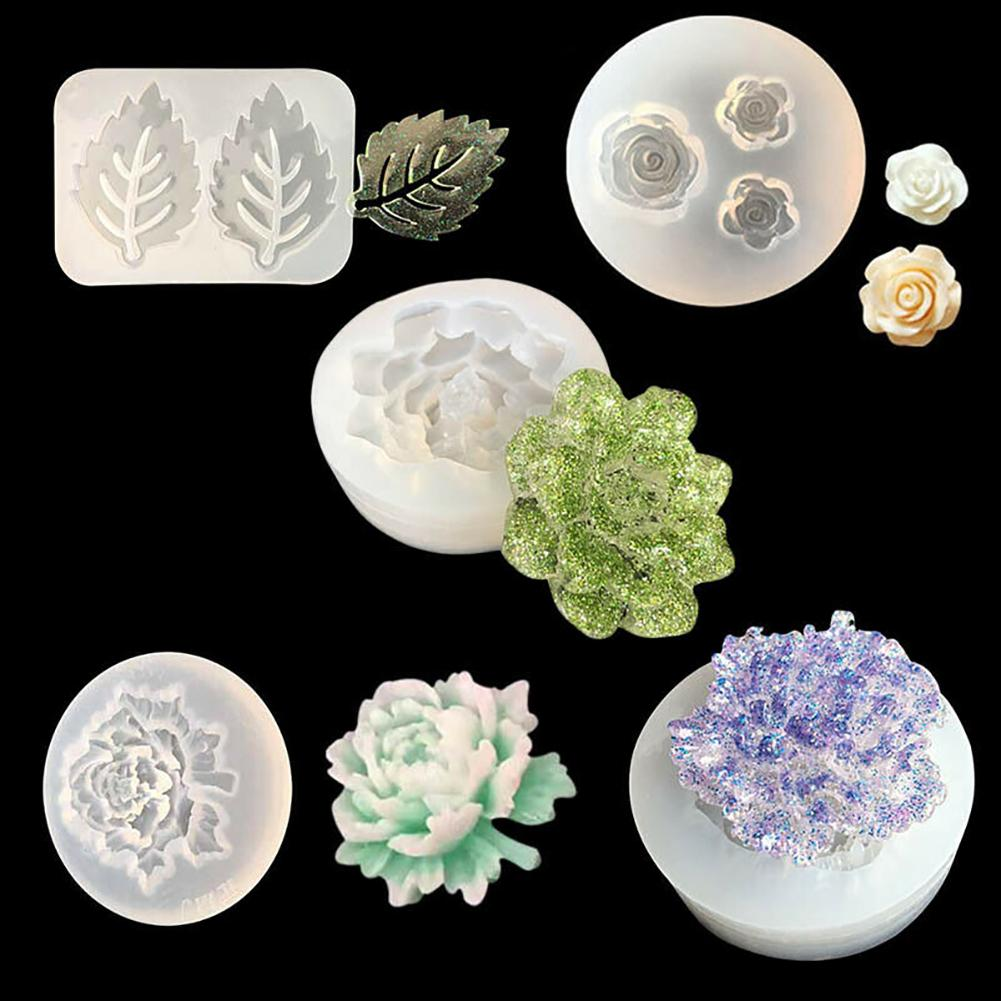 Silicone Mold Flower Leaf Necklace Pendant Resin Jewelry Making Epoxy Resin Molds For DIY Hand Craft for Jewelry New