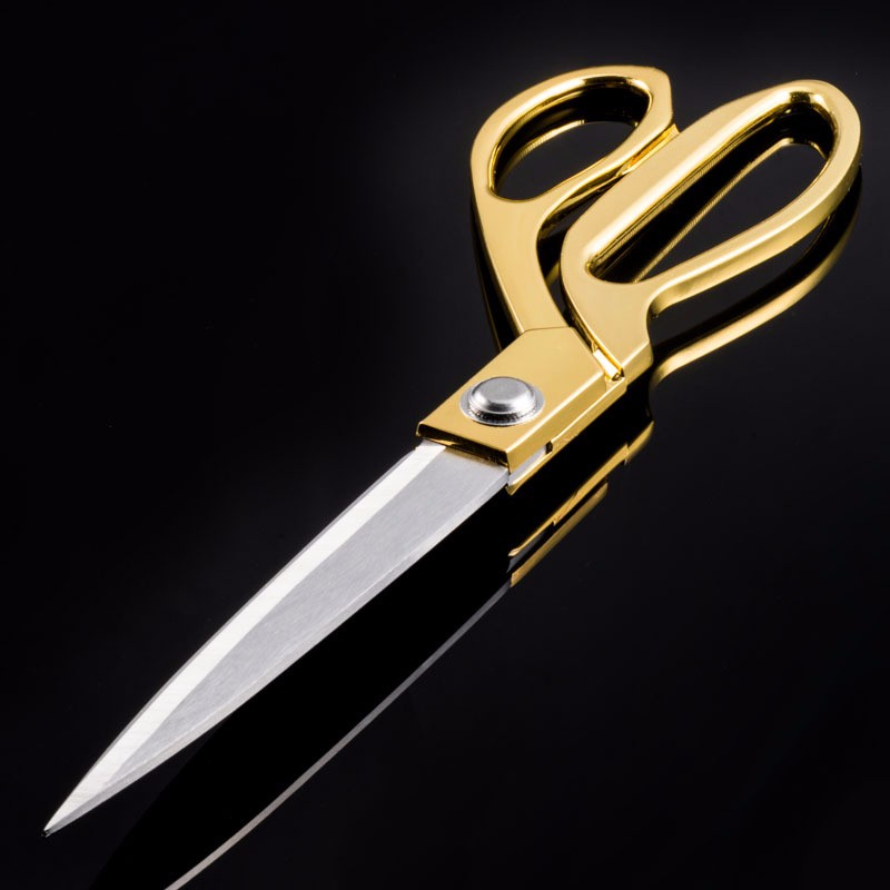 Professional-Tailor-Vintage-High-Quality-Stainless-Steel-Scissors-Leather-Fabric-Cutter-Golden-Sharp-Needlework-Scissors-H (5)