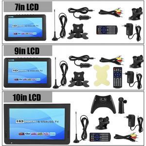 Image 3 - スマートカーテレビ 10 インチ DVB T T2 16:9 hd 1080 p デジタルアナログポータブルテレビカラーテレビプレーヤー用 eu プラグ