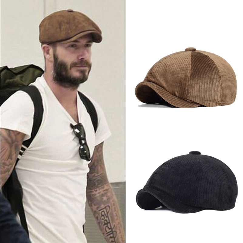 Unisex Spring Autumn Winter Newsboy Caps Men And Women Warm Octagonal Hat For Male Detective Hats Retro Flat Caps