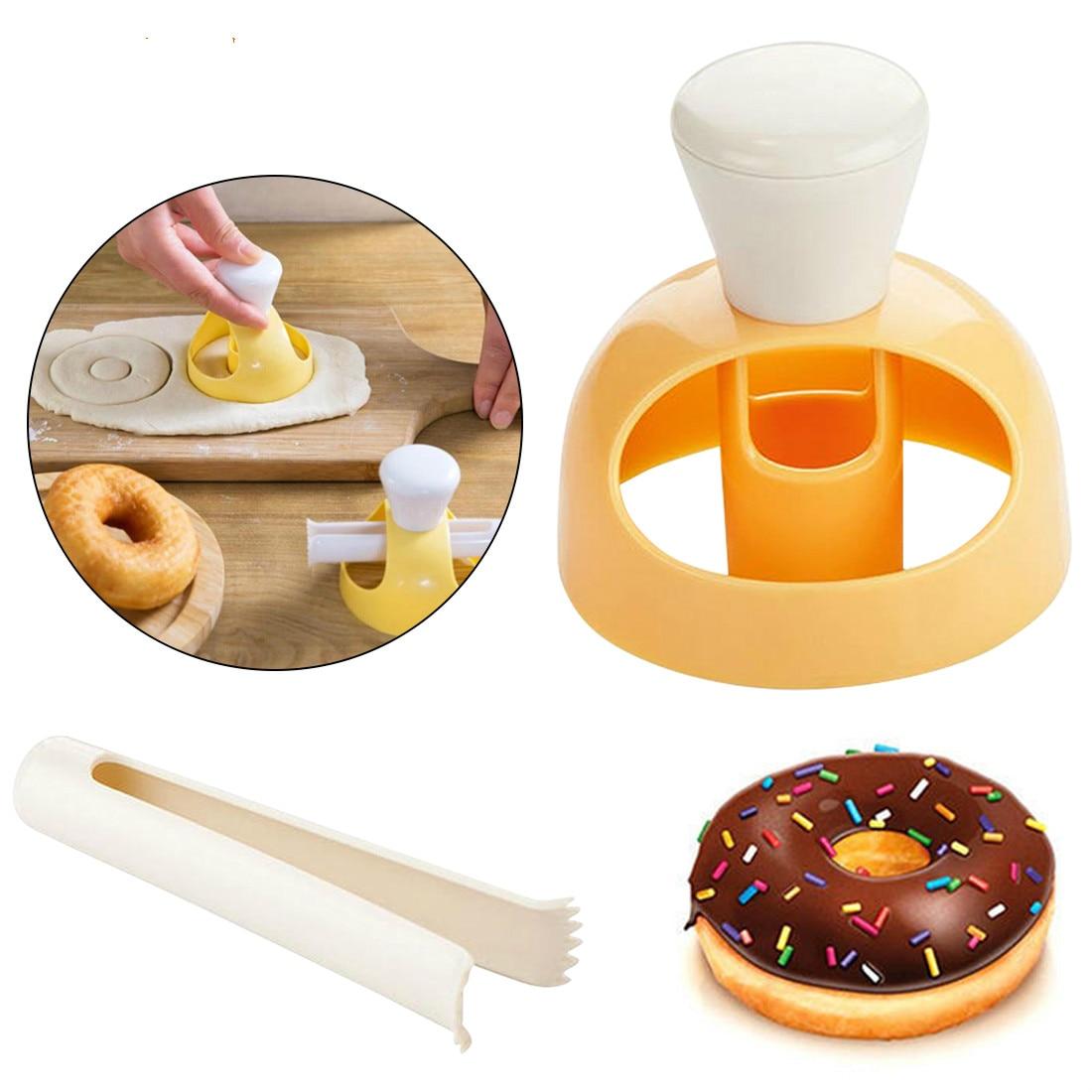 Donut Maker Mold Fondant Cake Bakery Doughnut DIY Fried Donut Maker Cutter Silicone Mold Chocolates Cake Decorating Tools
