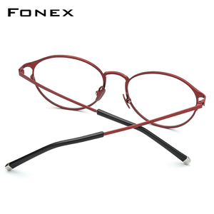 Image 2 - กรอบแว่นตา Titanium กรอบแว่นตา Vintage Vintage รอบแว่นตา Classic ออพติคอลยี่ห้อ Designer กรอบแว่นตาผู้หญิง 8501